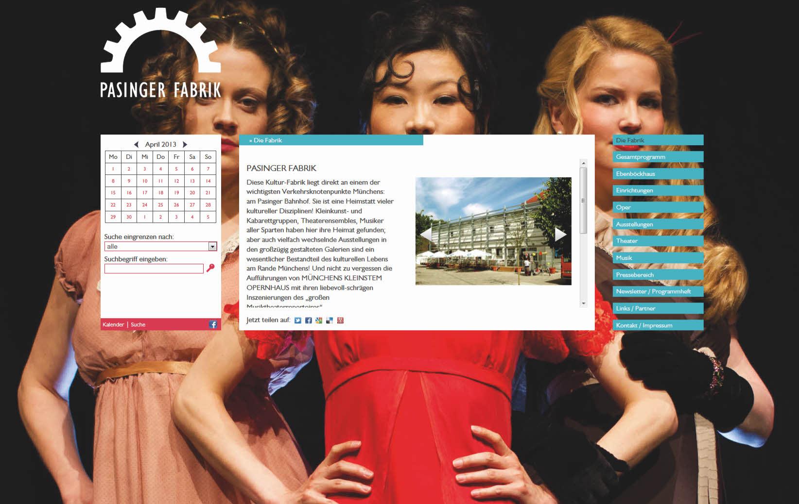 Neue Webseite für Pasinger Kulturfabrik