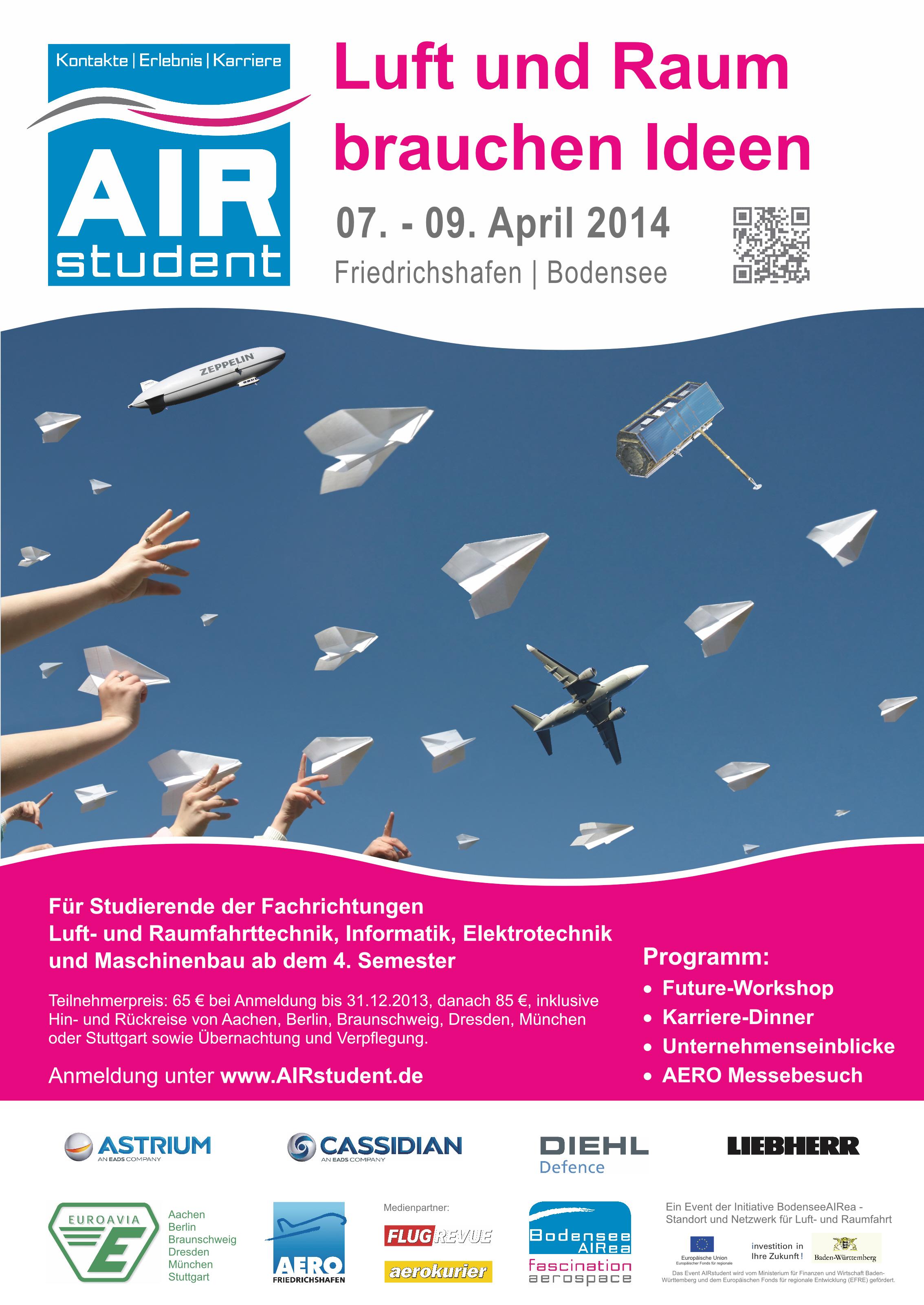 """""""Luft und Raum für Ideen"""" gibt's bei AIRstudent auch dank Bebobo"""
